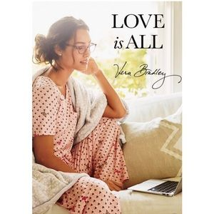 Vera Bradley Blush Hearts Knit Pajama Set